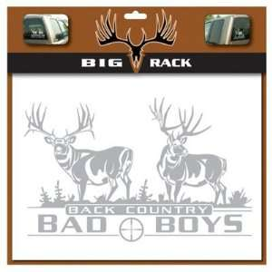 Big Rack Mule Deer Back Country Bad Boys Decal:  Sports