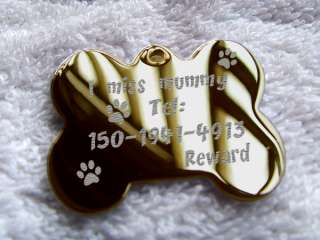 SIDED stainless steel engraved Dog Tag Pet ID Tags