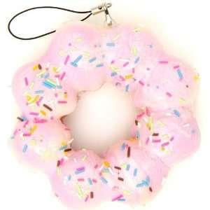 soft big pink flower donut squishy charm Toys & Games