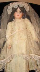 Antique Reproduction Kestner Germany 162 Mold Porcelain Doll