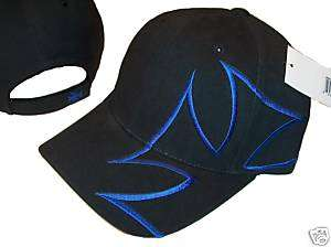 BLACK BLUE CROSS SKATEBOARD HAT HATS CAP CAPS GOTH