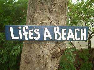 COUNTRY WOOD RUSTIC PRIMITIVE BEACH HOUSE SIGN PLAQUE