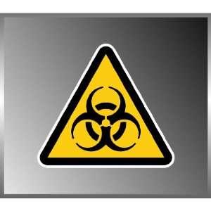 Biohazard Warning Sign Triangle Vinyl Decal Bumper Sticker