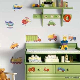 26 Big Cars Transportation boys Kids Room Nursery Wall Sticker Decals