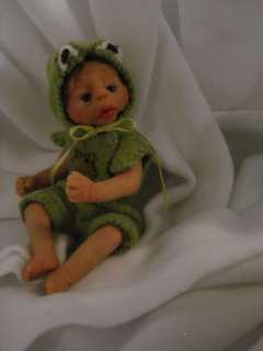 clay baby boy art doll frog partial sculpt by ciao bella babies