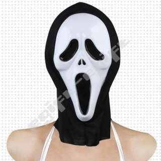 Halloween Costume Fancy Dress Scream Mask Ghost Face