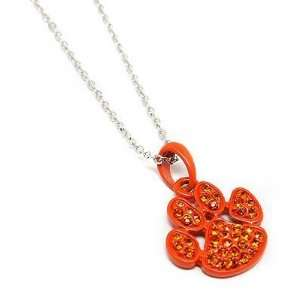 Tiger Paw Print Charm Pendant Necklace Animal Fashion Jewelry: Jewelry