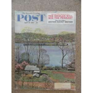 The Saturday Evening Post Magazine April 15,1961 (Cover Only) cover