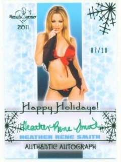 RENE SMITH GREEN AUTOGRAPH /10 BENCHWARMER NEW YEAR 2012
