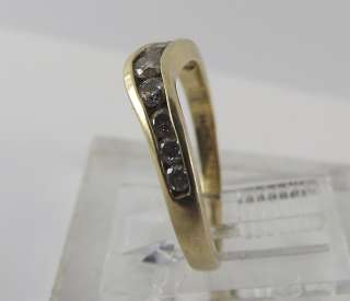 Yellow Gold Diamond Anniversary Band Ring Guard 14 Karat 14k
