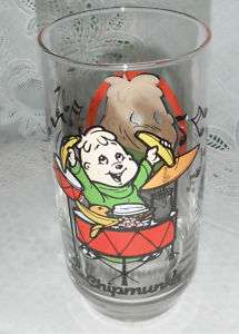 1985 Theodore The Chipmunks Collectible Libbey Glass