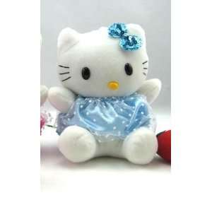 Hello Kitty Plush (Baby Blue) 18X13cm   Car Accessories