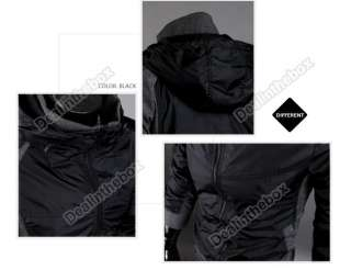 Mens Slim Fit Classic Hoodies Coats Jackets Double Zipper 2 Colors 4