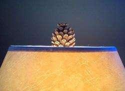 58.5 Pinecone Floor Lamp Pine Cone Branch Rustic Adirondack Log Cabin