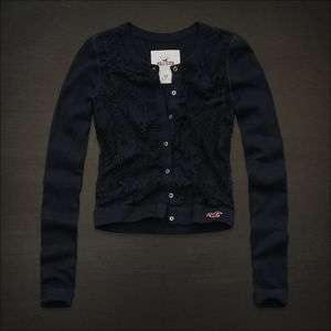 2011 Bettys Womens Navy Blue Button Lace Cardigan Sweater S M L