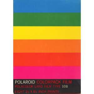 Polaroid Polacolor Land Film Type 108 [Eight 3 1/4 X 4 1/4