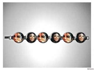 Michael Jackson smiles 8 inch bracelet w/fold over clasp