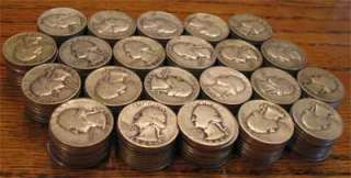 Washington Quarters US Silver 220ea (5.5 rolls) 90% Bullion Coins