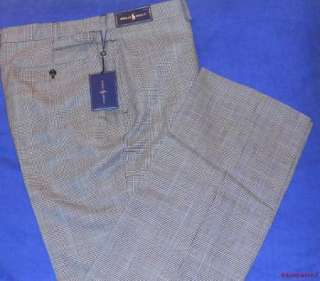 NWT $197.50 Polo Ralph Lauren Golf Wool Plaid Pants 36 X 33