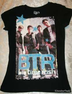BIG TIME RUSH BAND NICKELODEON SHOW GIRLS SHIRT NEW SMALL 6 6X MEDIUM