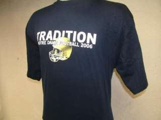 NOTRE DAME FOOTBALL t shirt TRADITION L