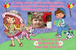 Strawberry Shortcake Birthday Party Invitations x 2
