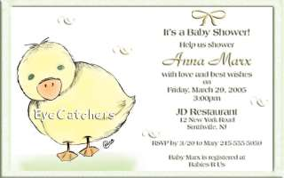 Chick invitations for your Baby Shower or Babies first Birthday Party