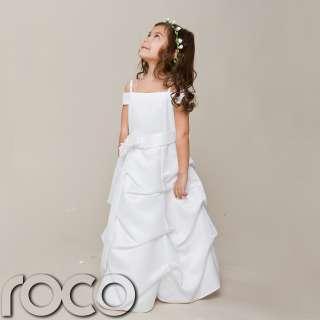 White Dress Holy Communion Dress Bridesmaid Flower Girl Dress 2 9yrs