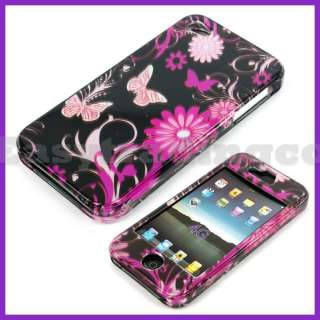 Butterfly & Flower Hard Case Cover for iPhone 4 4S