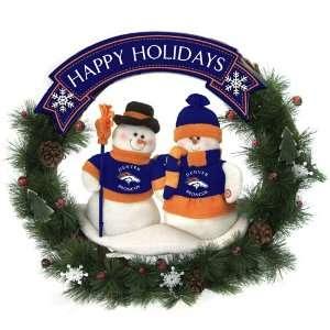 BSS   Denver Broncos NFL Team Snowman Wreath 20 inches