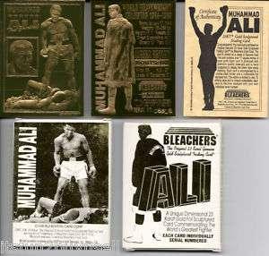 MUHAMMAD ALI 23 KT GOLD CARD 1996 BLEACHERS BOX COA
