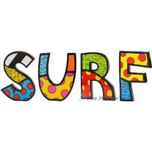 SURF Word Art for Table Top or Wall by Romero Britto
