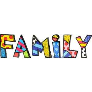 FAMILY Word Art for Table Top or Wall by Romero Britto