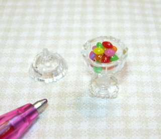 Miniature Jelly Bean Filled Candy Dish for DOLLHOUSE