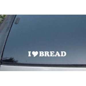 I Love Bread Vinyl Decal Stickers