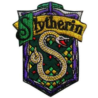 Harry Potter House Slytherin Iron on Patch T Shirt Uniform Costume