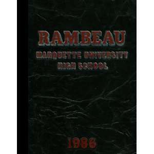 1986 Yearbook Staff of Marquette University High School Books