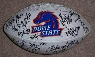BOISE STATE BRONCOS Team Signed LOGO FOOTBALL w/COA