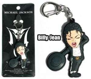 Michael Jackson MJ Billy Jean Key Chain Ring Bag Tag