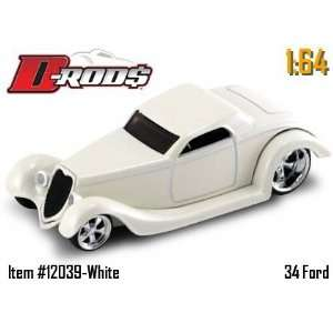 Jada Dub City D Rods White 34 Ford 1:64 Scale Die Cast Car