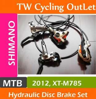 2012 Shimano Deore XT Dyna Sys M785 Hydraulic Disc Brake Set F&R