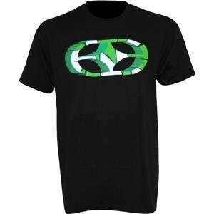 No Fear Broken T Shirt   Medium/Black/Green Automotive