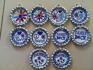 Daisy Girl Scouts Bottlecap Necklace