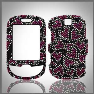 on Black Cristalina crystal bling case cover for Samsung Smiley T359