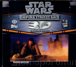 STAR WARS EMPIRE STRIKES BACK 3D SET,POSTER,EMPTY BOX+