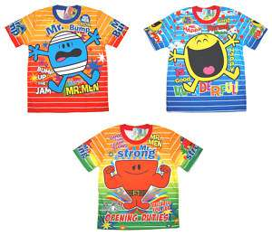 Mr Men & Little Miss Boys Girls Kids T Shirt CHOOSE ANY