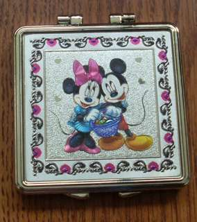 BRAND NEW Cute Disney Cartoon Mickey Minnie Compact Mirror