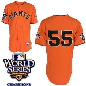 Kids San Francisco Giants 55# Lincecum Orange 2011 Mlb Authentic Kid