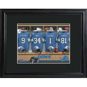 Baby Keepsake Detroit Lions Personalized NFL Locker Room Print Baby