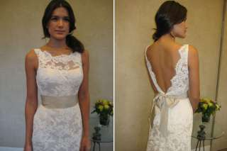 New White/Ivory Lace Wedding Dress Bridal Prom Gown Custom Size
